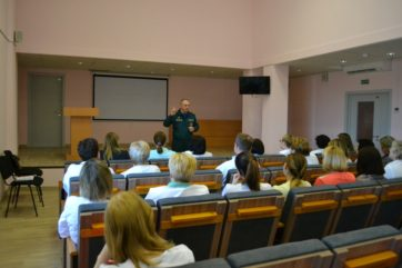 Профилактическая беседа в поликлинике (Солигорский район)