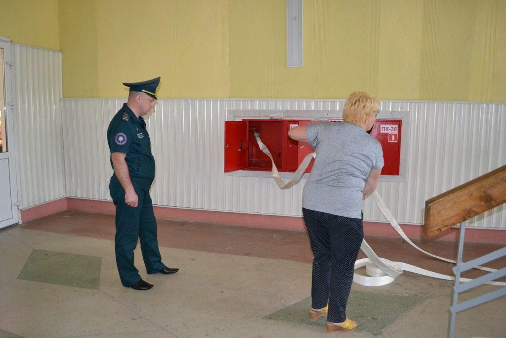 Приёмка в эксплуатацию установки автоматического пожаротушения (Солигорский район)
